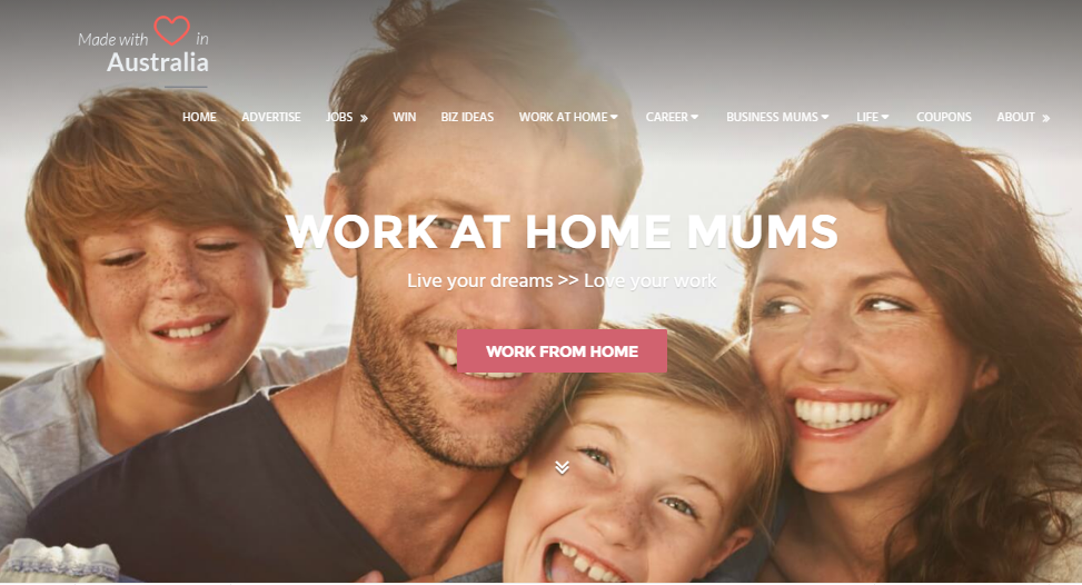 Work at home mums WAHM is an online community funded by services and advertising - on sale at Flippa
