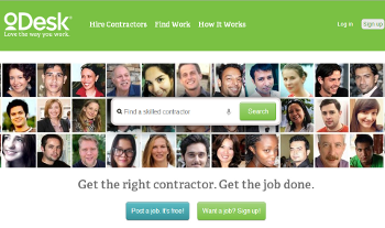 Remote Contractors use oDesk now Upwork for digital marketing to promote their online businesses