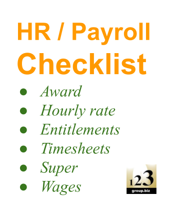 Payroll Courses Xero, MYOB, QuickBooks Online Training - HR, Award, Timesheets support, compliance, advice - 123 Group