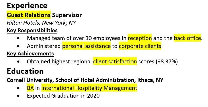 Resume-keywords-by-industry